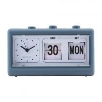Retro Uhr mit Wecker und Kalender