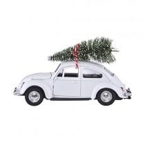 Modellauto XMAS CAR Weiß