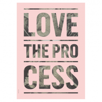 "Poster ""Love the Process"""