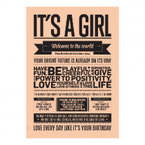"Poster ""It's a girl"""