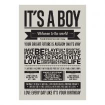 """Poster """"It's a boy"""""""