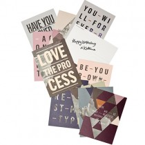 "Postkarten Set ""I love my type"""