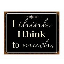 "Schild ""I think"""