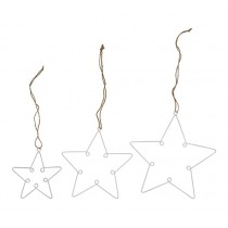 LOOP Anhänger Sterne Set Weiß