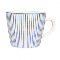 Casablanca Blau Becher STRIPES mit Henkel