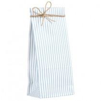 Geschenktütchen mit blaugrauen Streifen Klein