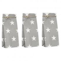 Geschenktütchen Set Grau mit Sternen Mini