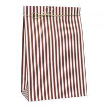 Geschenktütchen mit roten Streifen Groß