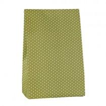 Geschenktütchen grün mit Punkten Groß