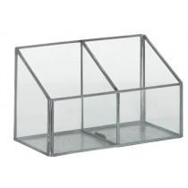 Glaskasten mit 2 Fächern