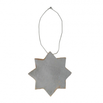 Holzstern 8 STAR Grau