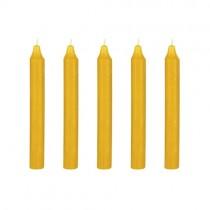 Kerzen Set 18cm Senfgelb