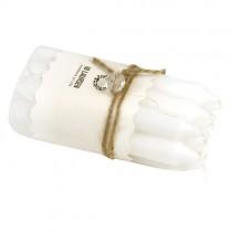 Kerzen Set Weiß 1,3cm