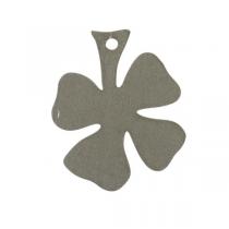 Kleeblatt Anhänger 10er Set Grau