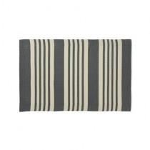 """Kunststoff Teppich """"Pattern"""" 60cm x 90cm Grau"""