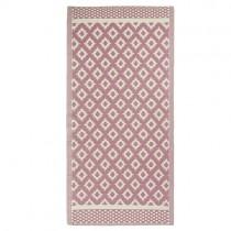 "Kunststoff Teppich ""Pattern"" 180 x 90cm Rosa"