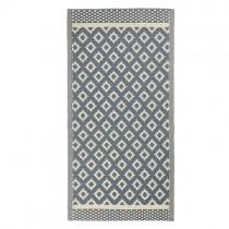 "Kunststoff Teppich ""Pattern"" 180 x 90cm Blau"