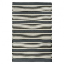 "Kunststoff Teppich ""Stripes"" 120x180cm Grau"