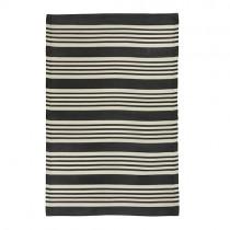 """Kunststoff Teppich """"Stripes"""" 120x180cm Schwarz"""