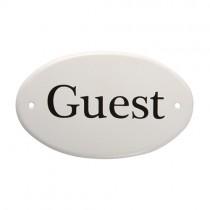 Metallschild Guest