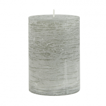 Rustic Kerze Grau 10cm