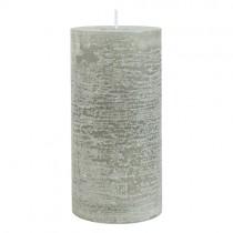 Rustic Kerze Grau 17cm