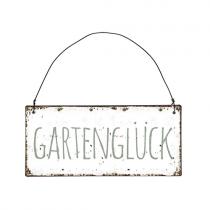 """Schild """"Gartenglück"""""""