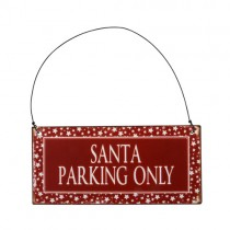 "Metallschild ""Santa parking only"""