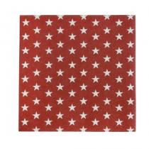 Servietten Stars Rot