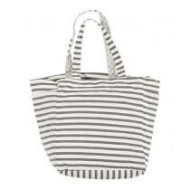 Ib Laursen Tasche mit grauen Streifen