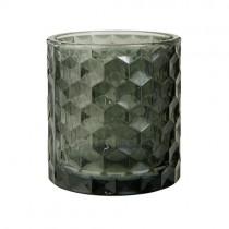 """Vase und Teelicht """"Vendela"""" Grau"""