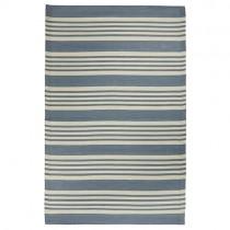"Kunststoff Teppich ""Stripes"" 120x180cm Blau"