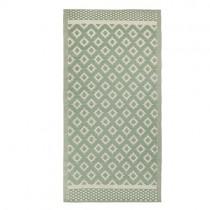 """Kunststoff Teppich """"Pattern"""" 180 x 90cm Grün"""