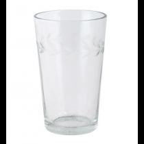 Glas mit Blattkanten Schliff