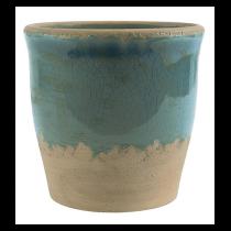 "Übertopf ""Crackle"" 17cm Ocean Blue"