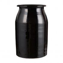 Vase Campagnard Schwarz 18cm
