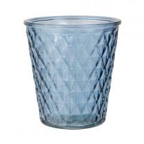 Vase und Teelicht VICTORIA Blau