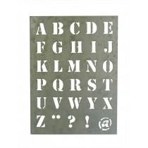 Schablone ABC aus Zink