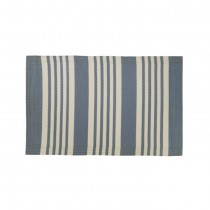 "Kunststoff Teppich ""Pattern"" 60cm x 90cm Blau"