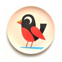 Melamin Kinderteller Vogel