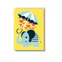 "Klappkarte ""Elephant Love"""