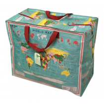 Jumbo Bag Vintage World Map