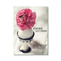 """Karte """"Frohe Ostern"""" mit Blüte"""
