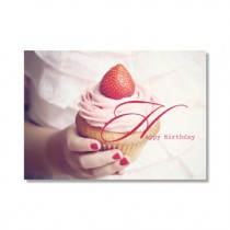 "Karte Happy Birthday ""Cup Cake"""