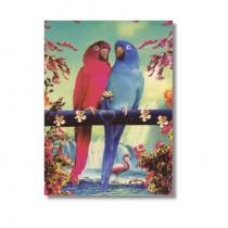 Karte Papageien Paar