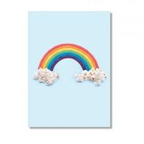 """Karte """"Paul Fuentes"""" Regenbogen Candy"""