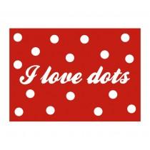 "Karte ""I love dots"""