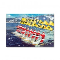 Karte Surfing Santas