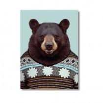 Karte mit Tierportrait Bär