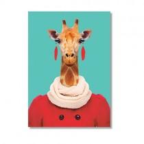 Karte mit Tierportrait Giraffe